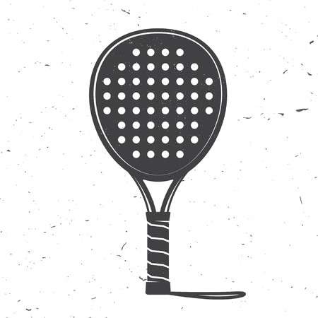 Illustration for Padel tennis racket icon. Vector illustration. - Royalty Free Image