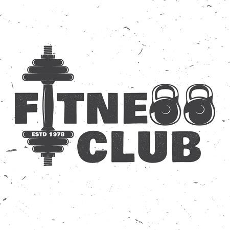 Ilustración de Fitness club badge. Vector illustration. - Imagen libre de derechos