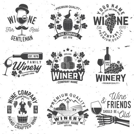 Ilustración de Set of winer company badge, sign or label. Vector illustration. - Imagen libre de derechos