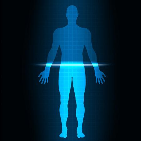 Ilustración de vector illustrationScan human - Imagen libre de derechos