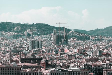 Foto de Panoramic view of the city of Barcelona - Imagen libre de derechos