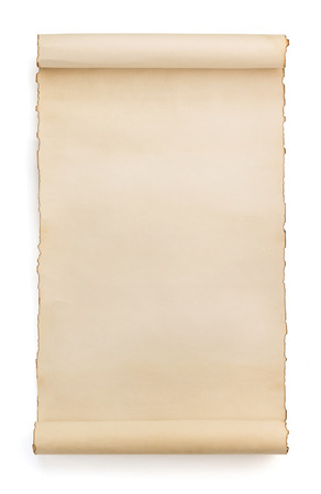 Photo pour parchment scroll isolated on white background - image libre de droit