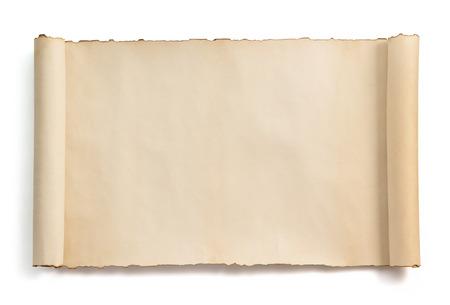 Foto de parchment scroll isolated on white background - Imagen libre de derechos
