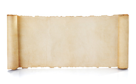 Photo for parchment scroll isolated on white background - Royalty Free Image