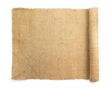 Photo for burlap hessian sacking isolated on white background - Royalty Free Image