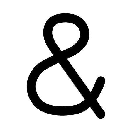 Illustration pour Ampersand black it is black color icon . - image libre de droit