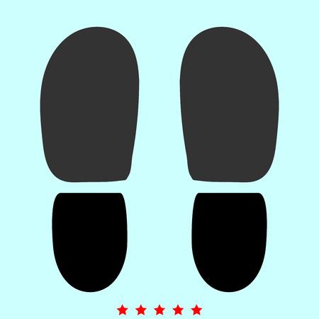 Ilustración de Traces the heels of shoes it is color icon . Simple style . - Imagen libre de derechos
