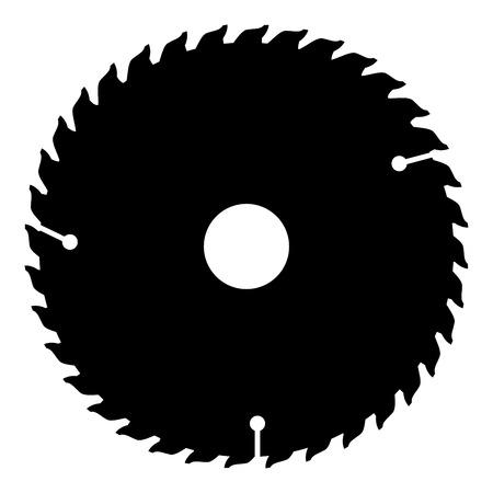 Ilustración de Circular disk icon black color vector illustration flat style simple image - Imagen libre de derechos