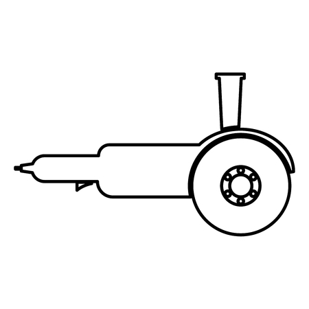 Illustration for Bulgarian electric circular saw angle grinder with discs hand-held icon black color vector illustration flat style simple image - Royalty Free Image