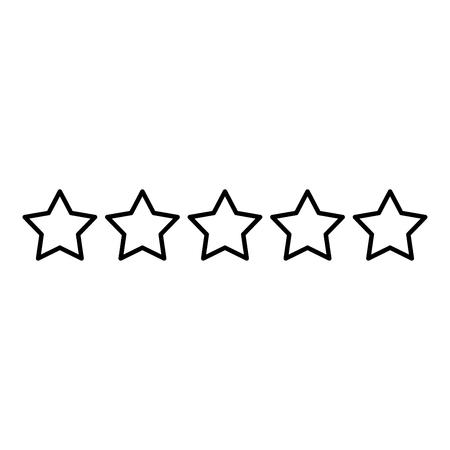 Illustration pour Five stars 5 stars rating concept icon outline black color vector illustration flat style simple image - image libre de droit