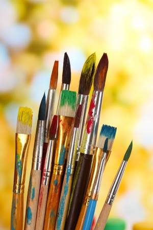 Photo for Many brush in paint on nature background - Royalty Free Image