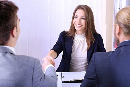 Photo for Job applicants having interview - Royalty Free Image