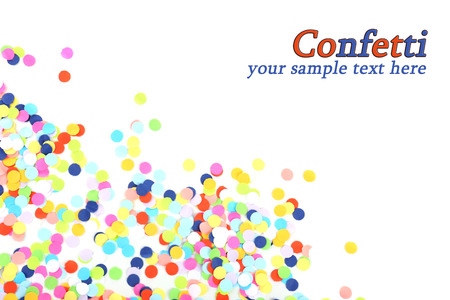 Photo for Confetti isolated on white - Royalty Free Image
