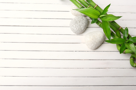 Foto de Spa bamboo on wooden background - Imagen libre de derechos