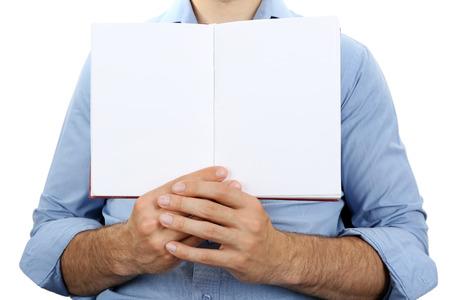 Foto de Man holding book close up - Imagen libre de derechos