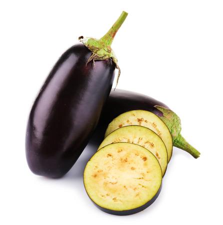 Photo for Fresh eggplant isolated on white - Royalty Free Image