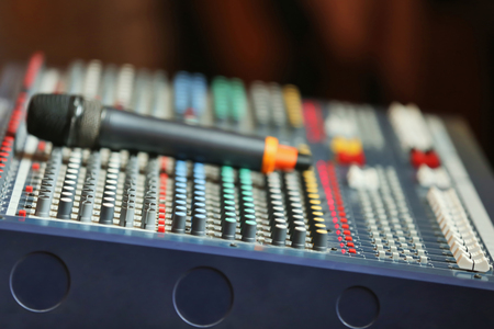Photo for Professional audio mixing console - Royalty Free Image