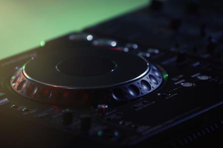 Photo for Close up view of professional DJ console - Royalty Free Image