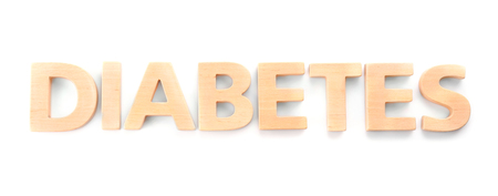 Foto per Word Diabetes on white background - Immagine Royalty Free
