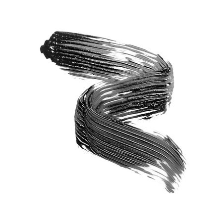 Photo pour Black mascara brush stroke, isolated on white - image libre de droit