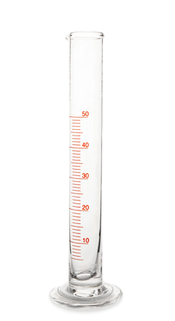 Photo pour Graduated cylinder on white background - image libre de droit