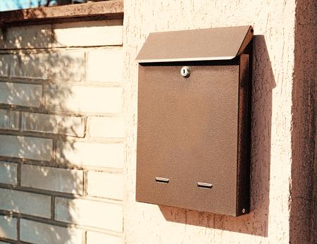 Foto de Mail box on fence outdoors - Imagen libre de derechos