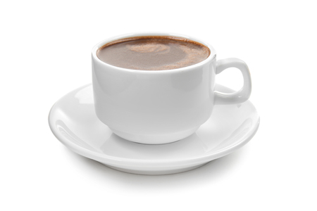 Foto de Cup of hot chocolate on white background - Imagen libre de derechos