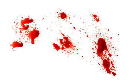 Foto de Blood splashes on white background - Imagen libre de derechos