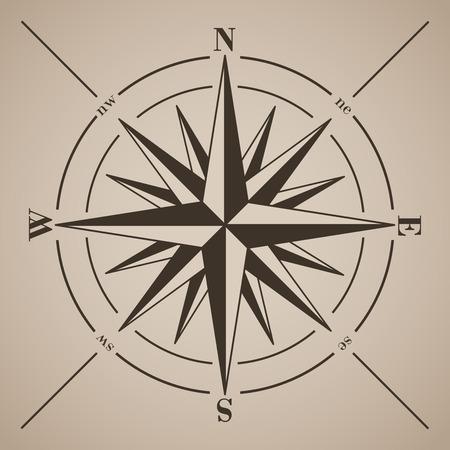 Ilustración de Compass rose. Vector illustration.  - Imagen libre de derechos
