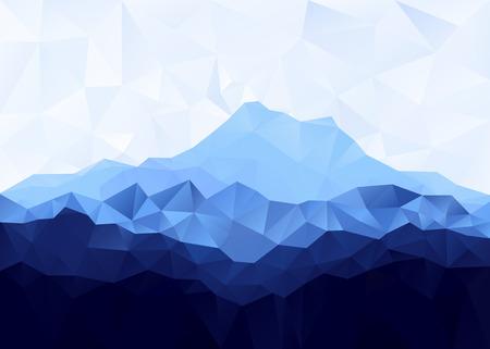 Illustration pour Triangle geometrical background with blue mountain range . Vector illustration. - image libre de droit