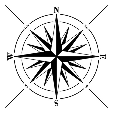 Ilustración de Windrose. Compass rose isolated on white background. - Imagen libre de derechos