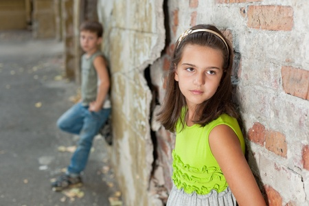 Girl and boy having difficulty relationship