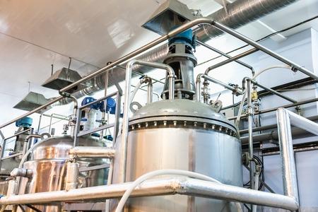 Foto de Tank equipment. Pharmaceutical and chemical industry. Manufacture on plant - Imagen libre de derechos