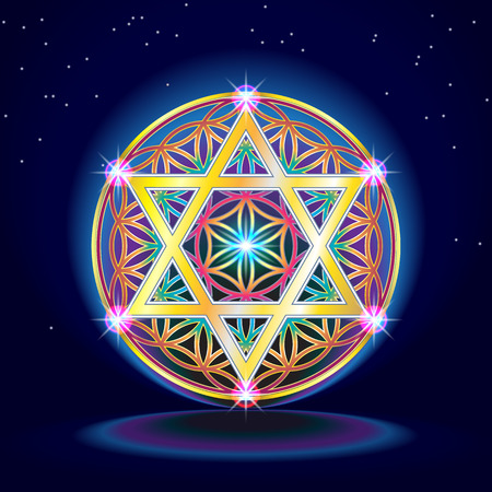 Illustration pour The flower Of Life - image libre de droit