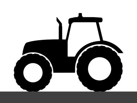 Illustration pour Tractor silhouette on a white background. - image libre de droit