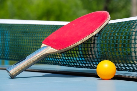 ball and paddle for table tennis