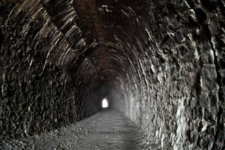 Photo of deserted tunnel at Baikal railroad