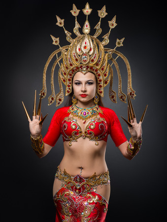 Photo for The girl is dancing the Thai dance - Royalty Free Image