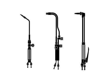 Ilustración de Equipment for metal cutting and welding. Cutting torch. - Imagen libre de derechos