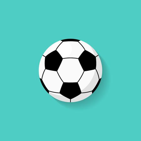 Ilustración de Soccer ball icon in flat style. Vector - Imagen libre de derechos