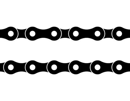 Illustration pour Seamless bicycle chain illustration on white background. - image libre de droit