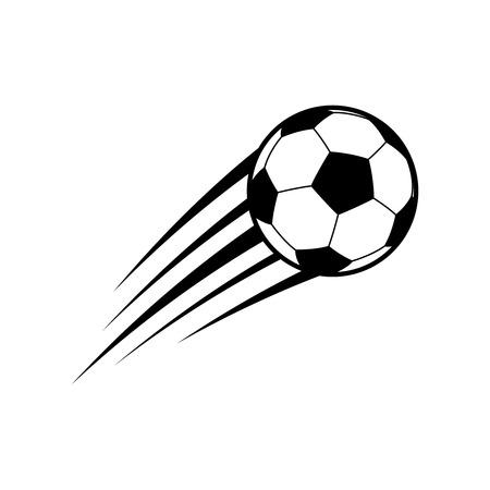 Ilustración de Flying soccer ball. Vector - Imagen libre de derechos