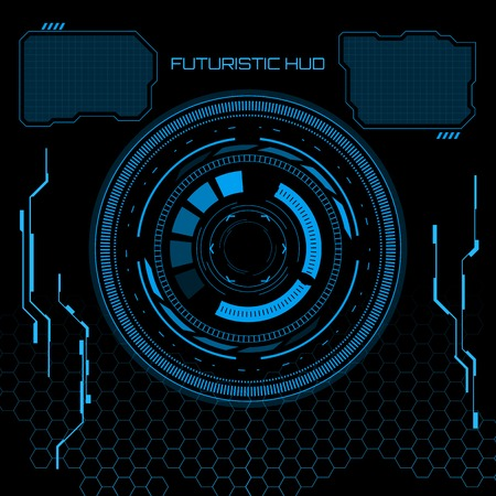 Illustration pour Sci fi futuristic user interface. Vector illustration. - image libre de droit
