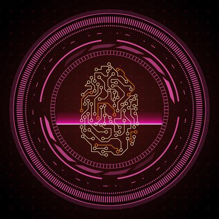 Illustration pour Abstract security system concept. Technology background. - image libre de droit