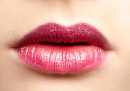 Photo for close-up portrait of beautiful woman lips make up - Royalty Free Image