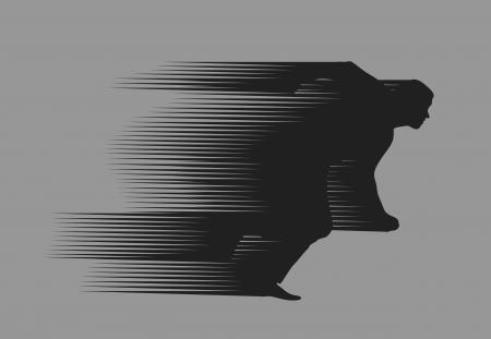Ilustración de Running Man - Imagen libre de derechos