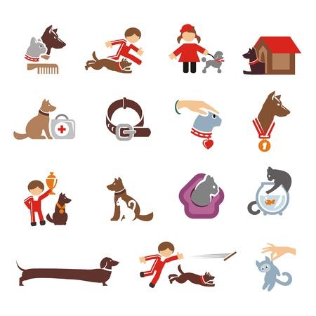Dog & Cat icons set