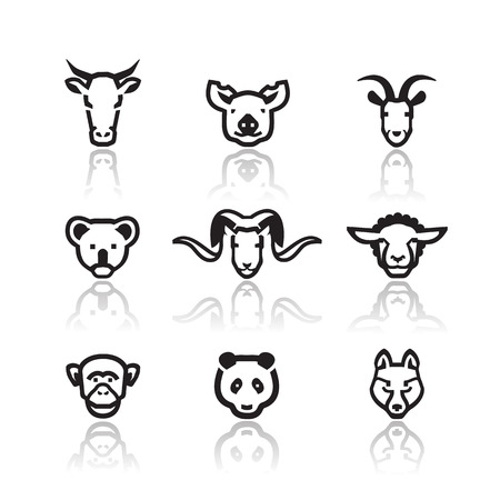 Illustration for Animals icons  Vector format - Royalty Free Image