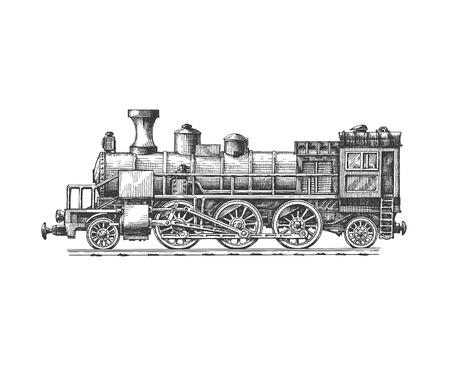 Illustration pour Steam locomotive  Vector format - image libre de droit
