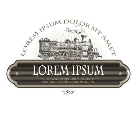 Illustration pour Vintage steam train  - image libre de droit